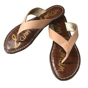 Sam Edelman Nude Leather Sandals Flip Flops Flats